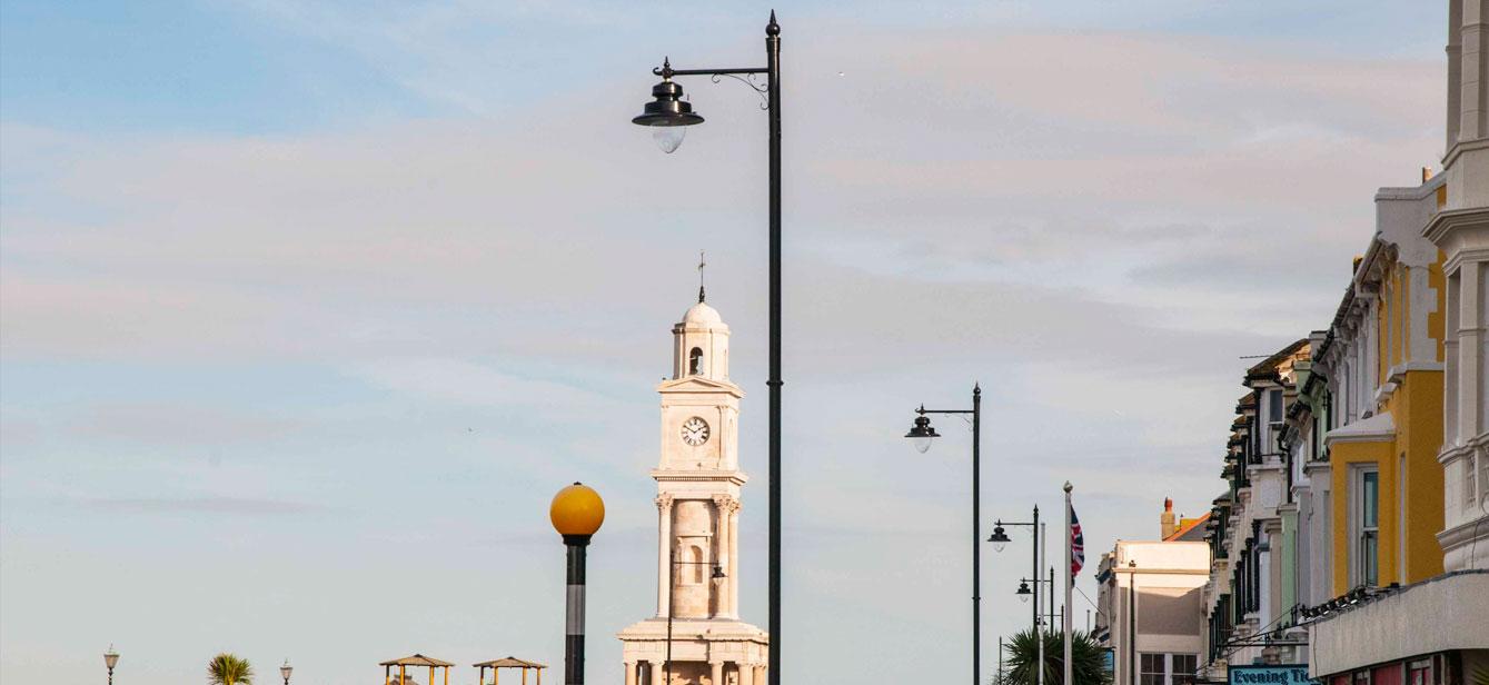 Street lighting, Column and brackets, outdoor lighting